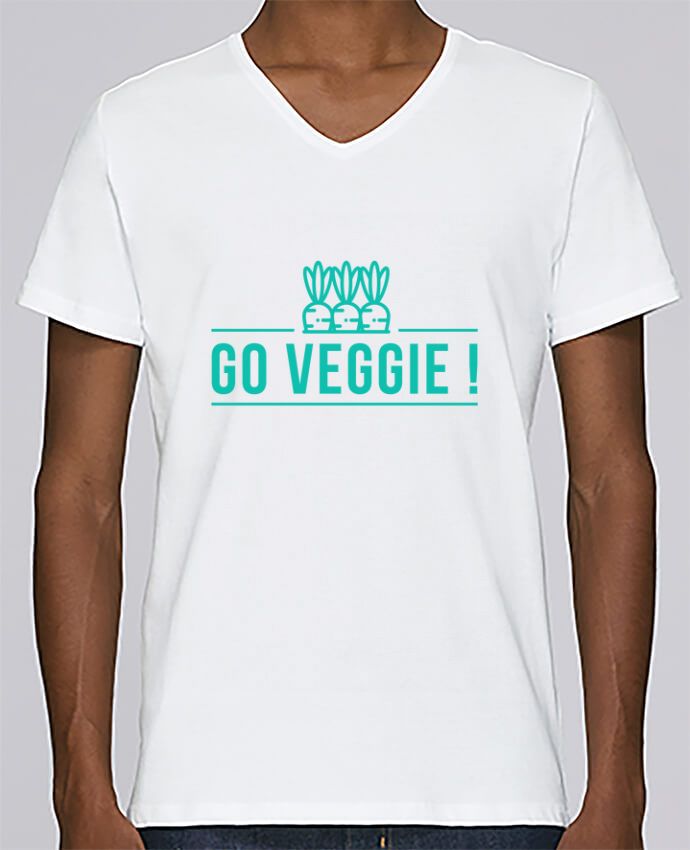 Camiseta Hombre Cuello en V Stanley Relaxes Go veggie ! por Folie douce