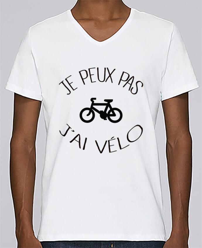 Camiseta Hombre Cuello en V Stanley Relaxes Je peux pas j'ai vélo por Freeyourshirt.com
