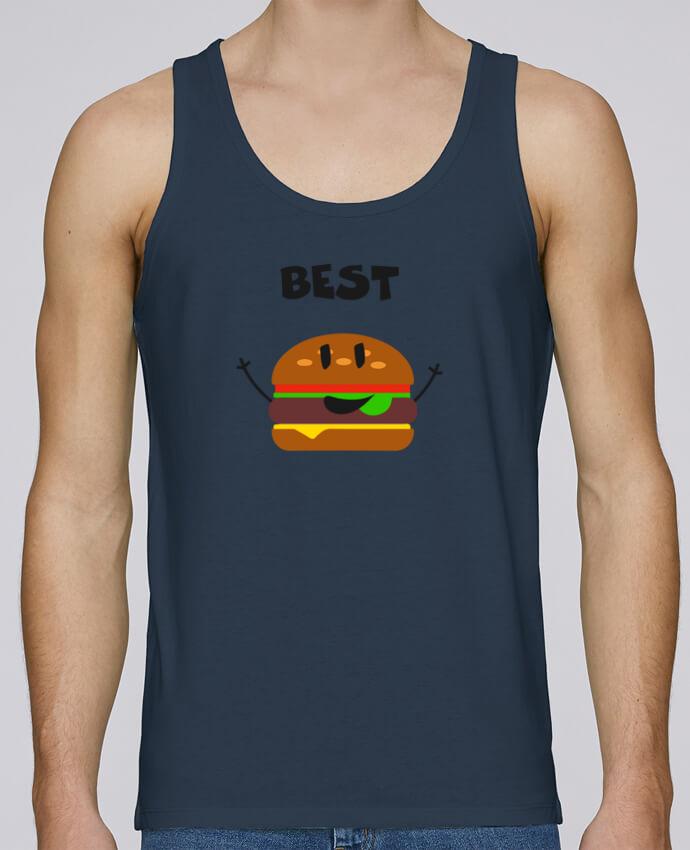 Camiseta de tirantes algodón orgánico hombre Stanley Runs BEST FRIENDS BURGER 1 por tunetoo 100% coton bio