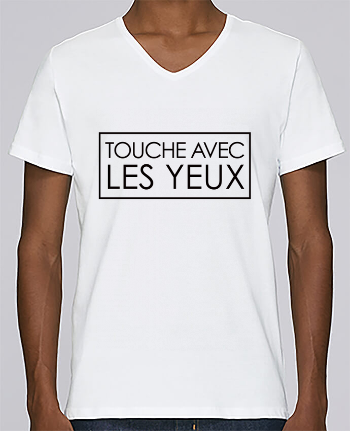 Camiseta Hombre Cuello en V Stanley Relaxes Touche avec les yeux por Freeyourshirt.com