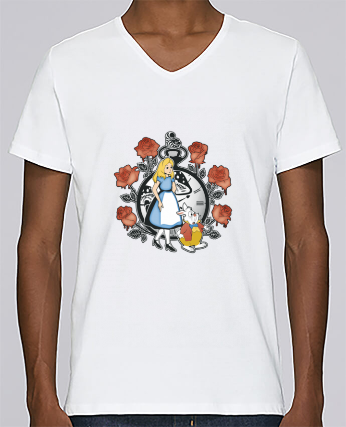 Camiseta Hombre Cuello en V Stanley Relaxes Time for Wonderland por Kempo24