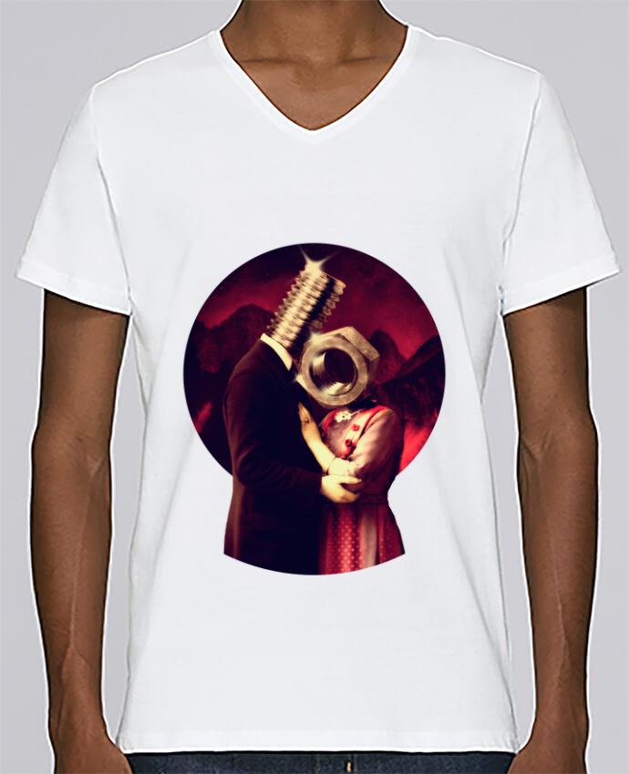 Camiseta Hombre Cuello en V Stanley Relaxes Screw Love por ali_gulec
