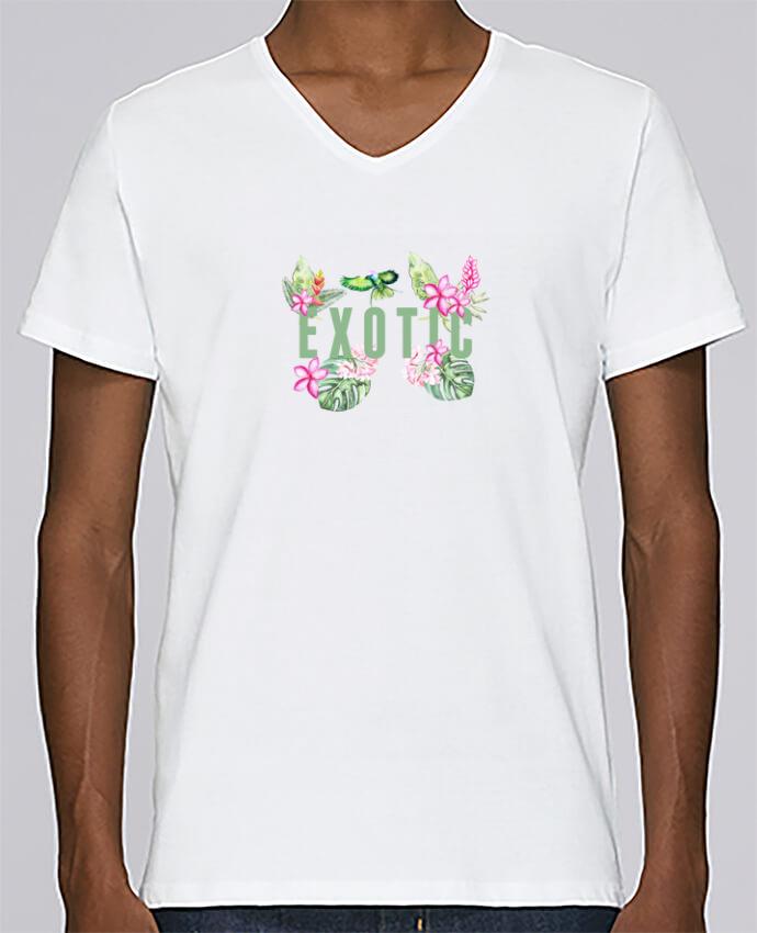 Camiseta Hombre Cuello en V Stanley Relaxes Exotic por Les Caprices de Filles