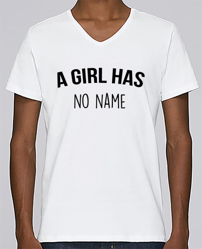 Camiseta Hombre Cuello en V Stanley Relaxes A girl has no name por Bichette
