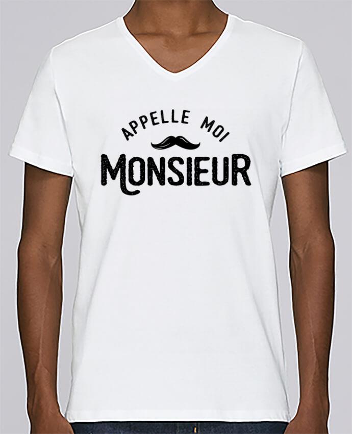 Camiseta Hombre Cuello en V Stanley Relaxes Appelle moi monsieur por tunetoo