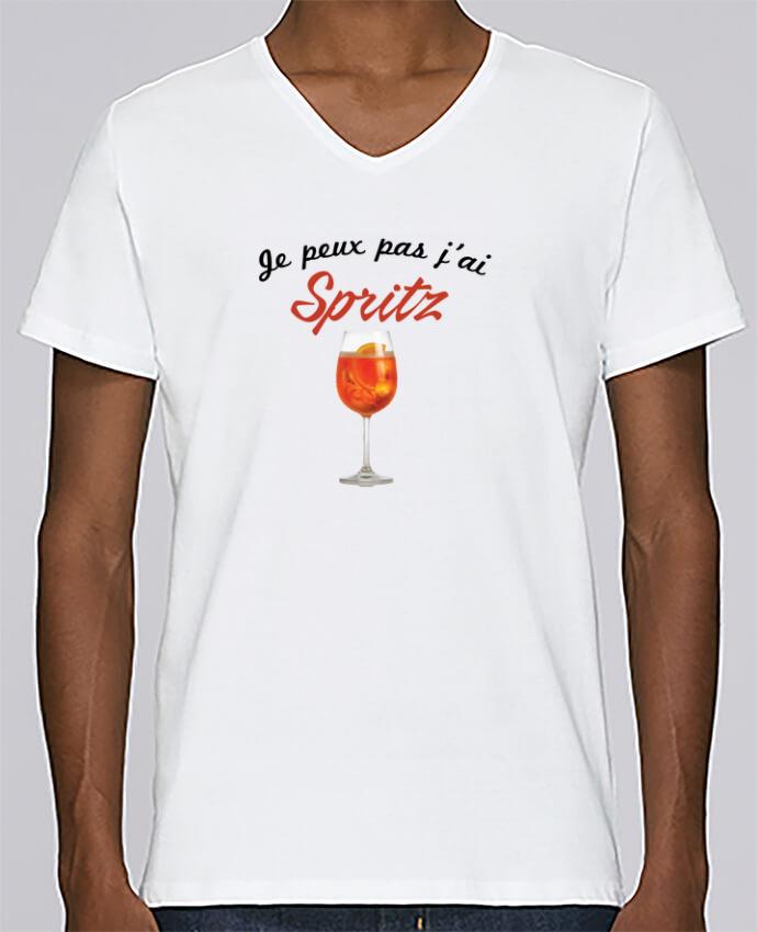 Camiseta Hombre Cuello en V Stanley Relaxes Je peux pas j'ai Spritz por tunetoo