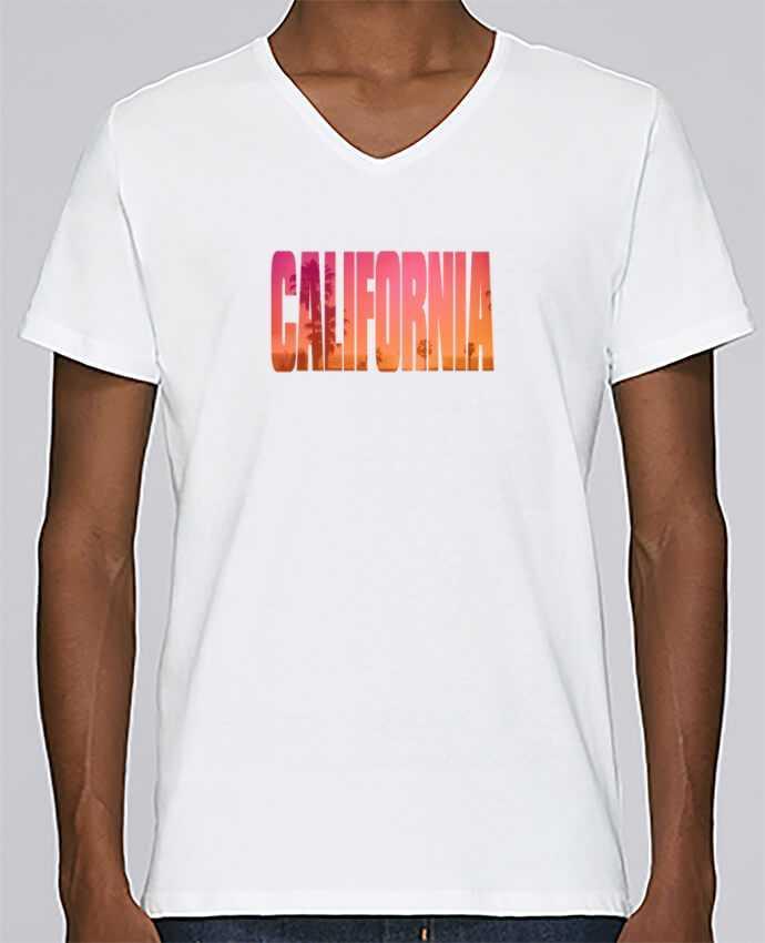 Camiseta Hombre Cuello en V Stanley Relaxes California por justsayin