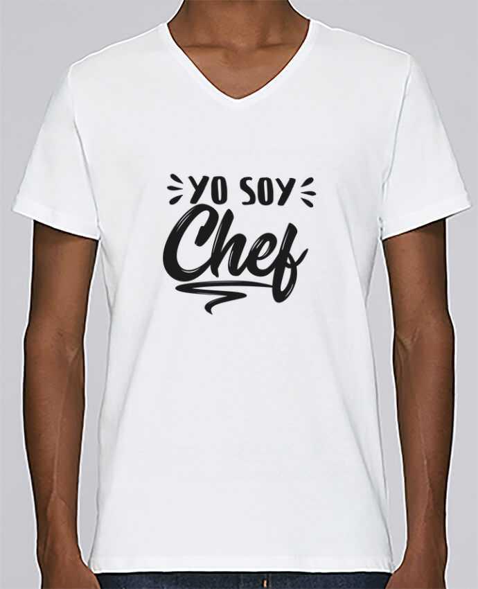 Camiseta Hombre Cuello en V Stanley Relaxes soy chef por tunetoo
