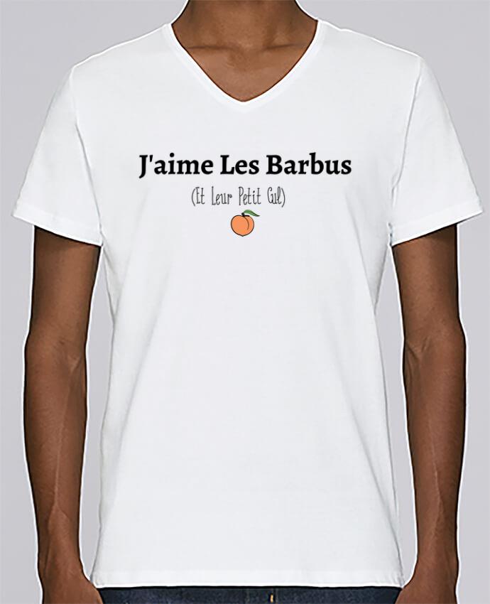 Camiseta Hombre Cuello En V Stanley Relaxes Jaime Les Barbus Et Leur Petit Cul Por Tunetoo