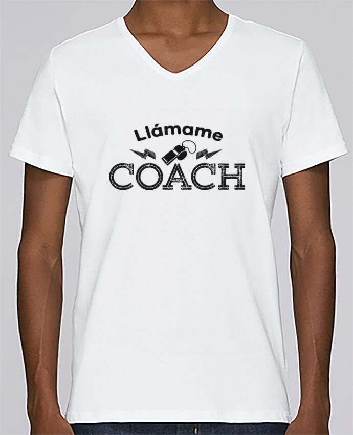 Camiseta Hombre Cuello en V Stanley Relaxes Llámame Coach por tunetoo