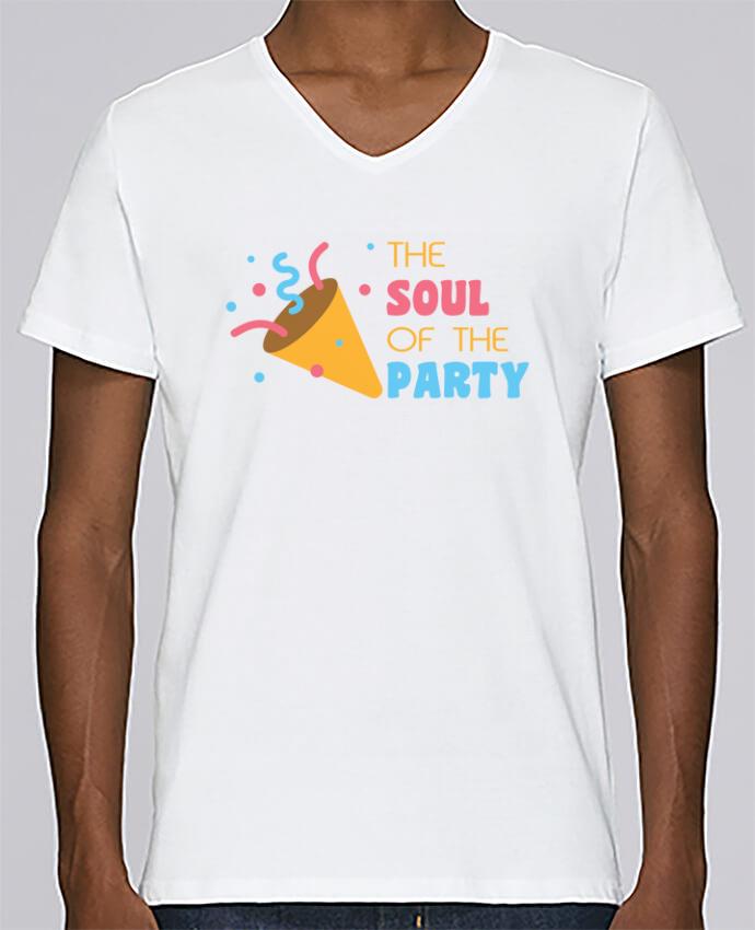 Camiseta Hombre Cuello en V Stanley Relaxes The soul of the porty por tunetoo