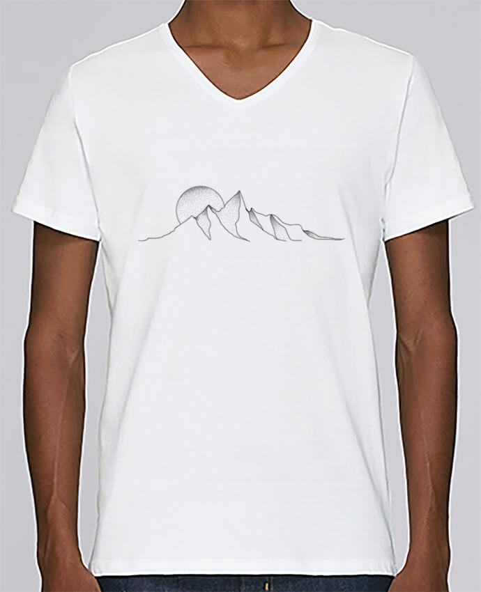 Camiseta Hombre Cuello en V Stanley Relaxes mountain draw por /wait-design