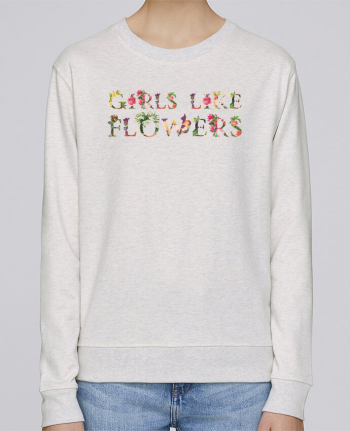 Sudadera Cuello Redondo Stella Hides Girls like flowers por tunetoo