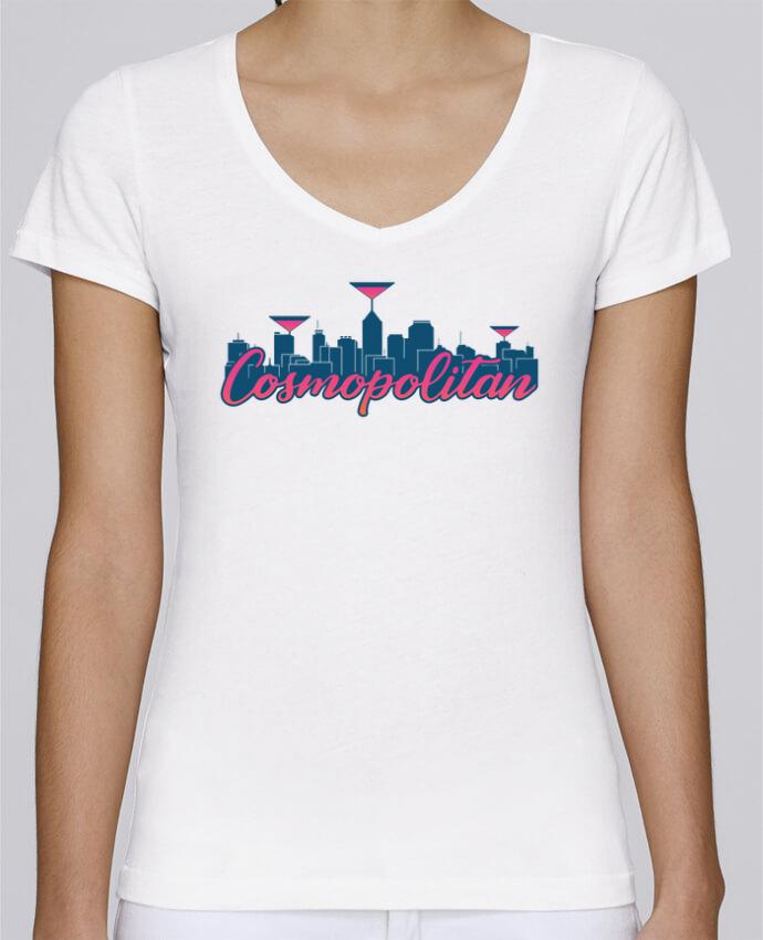 Camiseta Mujer Cuello en V Stella Chooses Cosmopolitan Cocktail Summer por tunetoo
