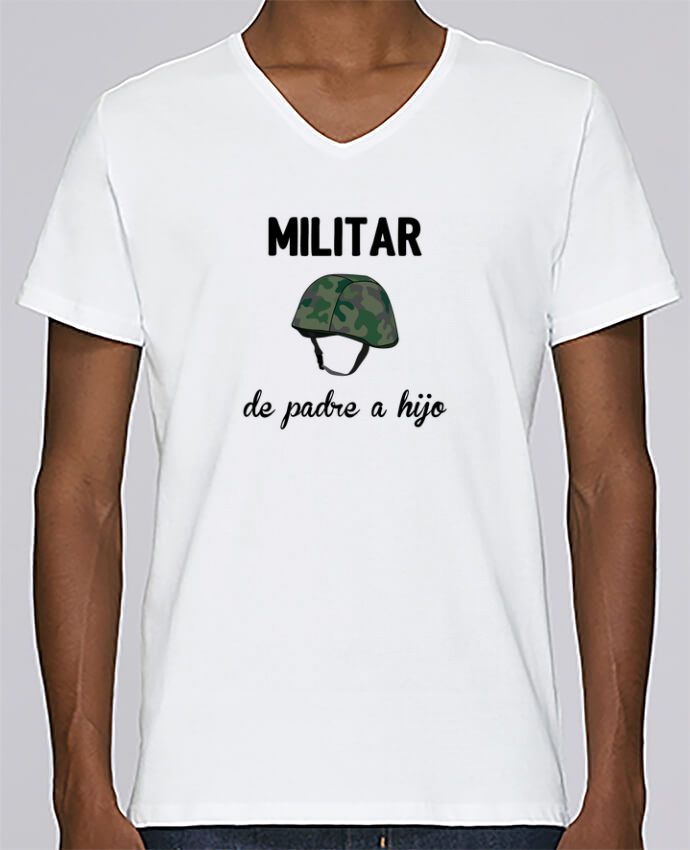 Camiseta Hombre Cuello en V Stanley Relaxes Militar de padre a hijo por tunetoo