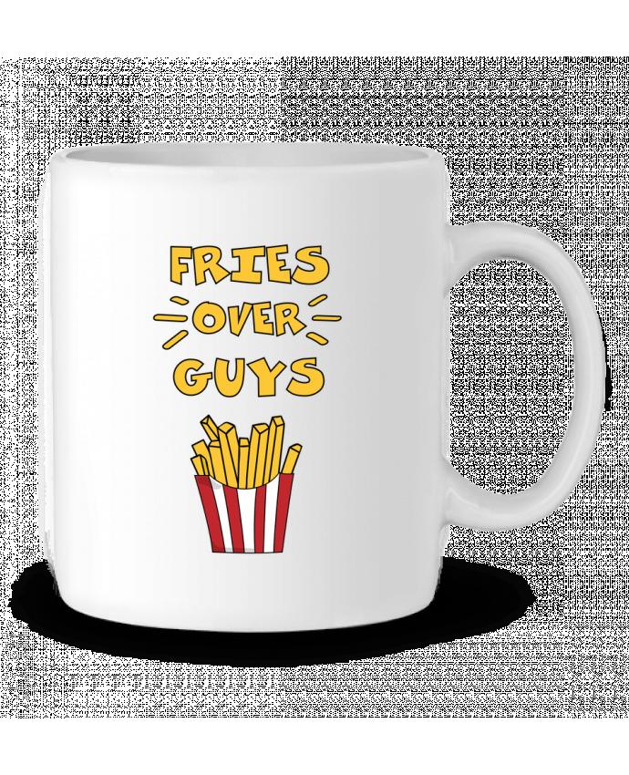 Taza Cerámica Fries over guys por tunetoo