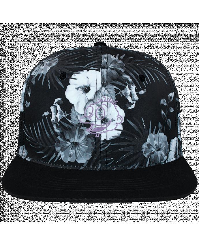 Gorra Snapback Diseño Hawai Razmoket brodé brodé et toile imprimée motif floral noir et b