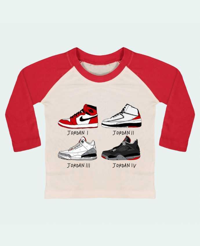 Camiseta Bebé Béisbol Manga Larga Best of Jordan por Nick cocozza