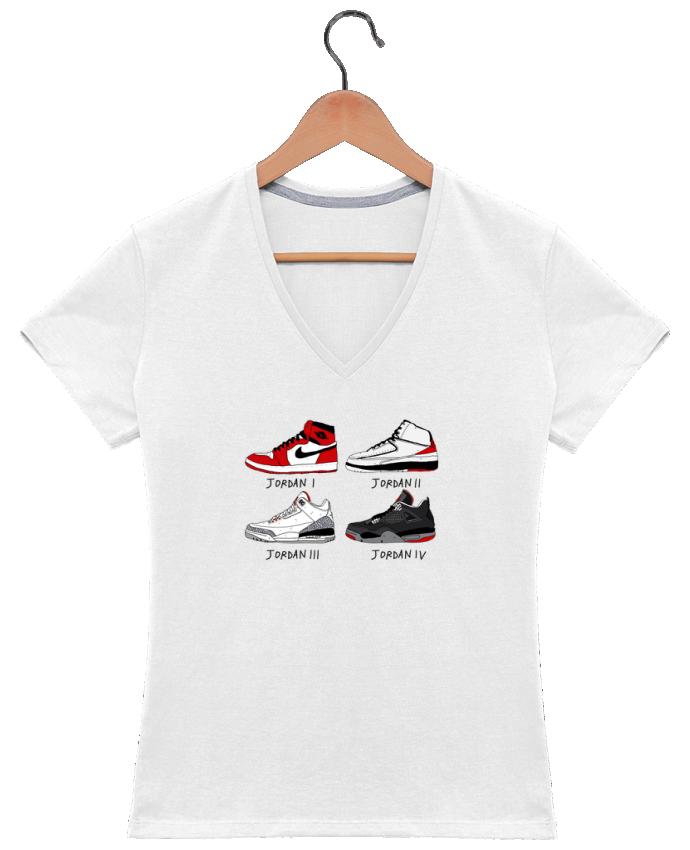 Camiseta Mujer Cuello en V Best of Jordan por Nick cocozza