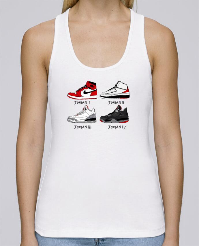 Camiseta de tirantes algodón orgánico mujer Stella Dreams Best of Jordan por Nick cocozza en coton Bio