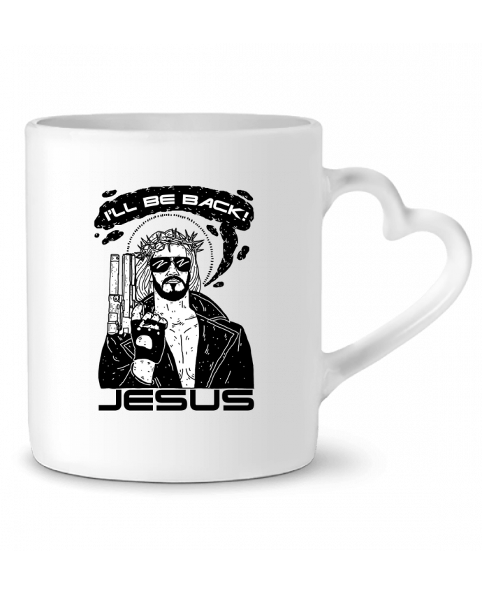 Taza Corazón Terminator Jesus por Nick cocozza