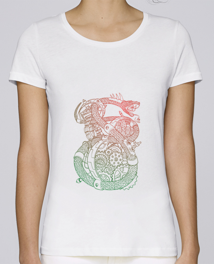 Camiseta Mujer Stellla Loves Méca Serpent por Tomi Ax