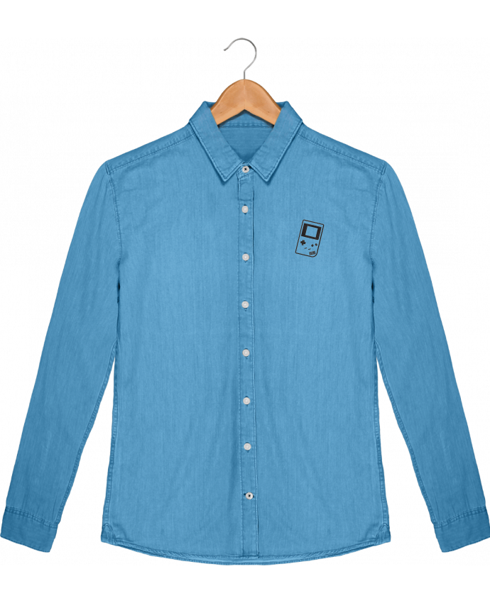 Camisa Hombre Stanley Inspiración Vaquero Gameboy brodé por tunetoo