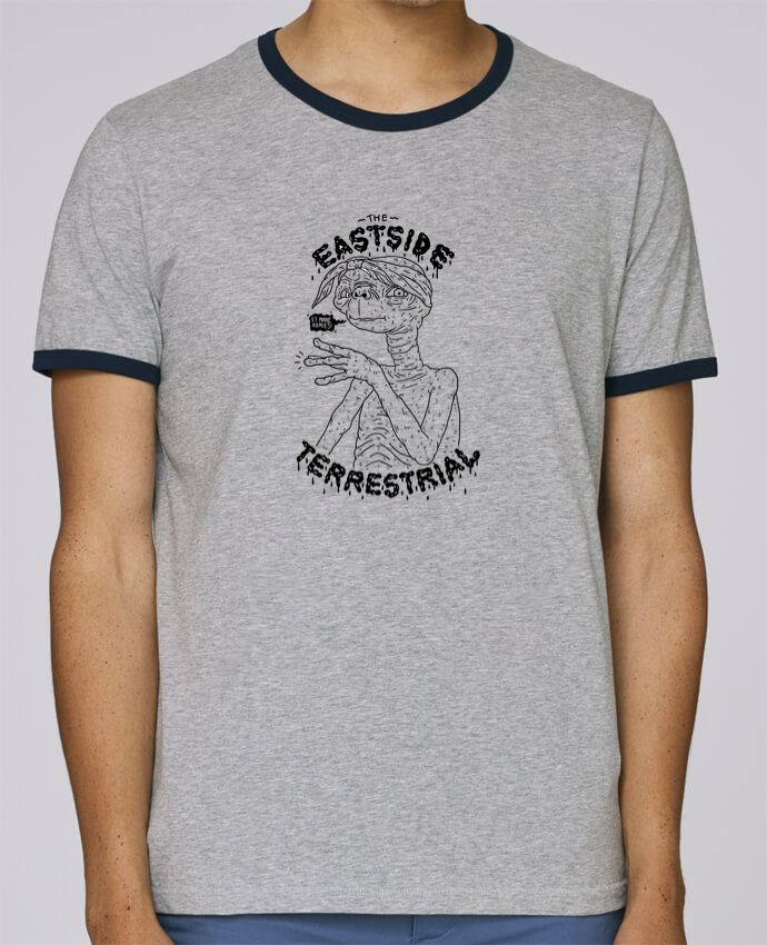 Camiseta Bordes Contrastados Hombre Stanley Holds Gangster E.T pour femme por Nick cocozza