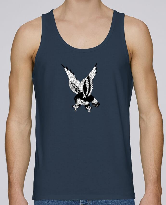 Camiseta de tirantes algodón orgánico hombre Stanley Runs Eagle Art por Nick cocozza 100% coton bio