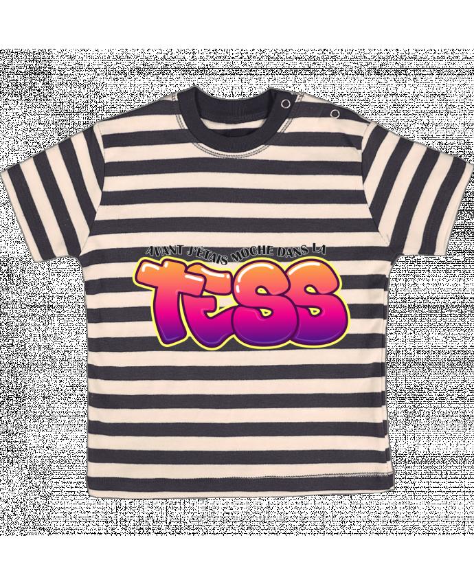 Camiseta Bebé a Rayas PNL Moche dans la Tess por tunetoo