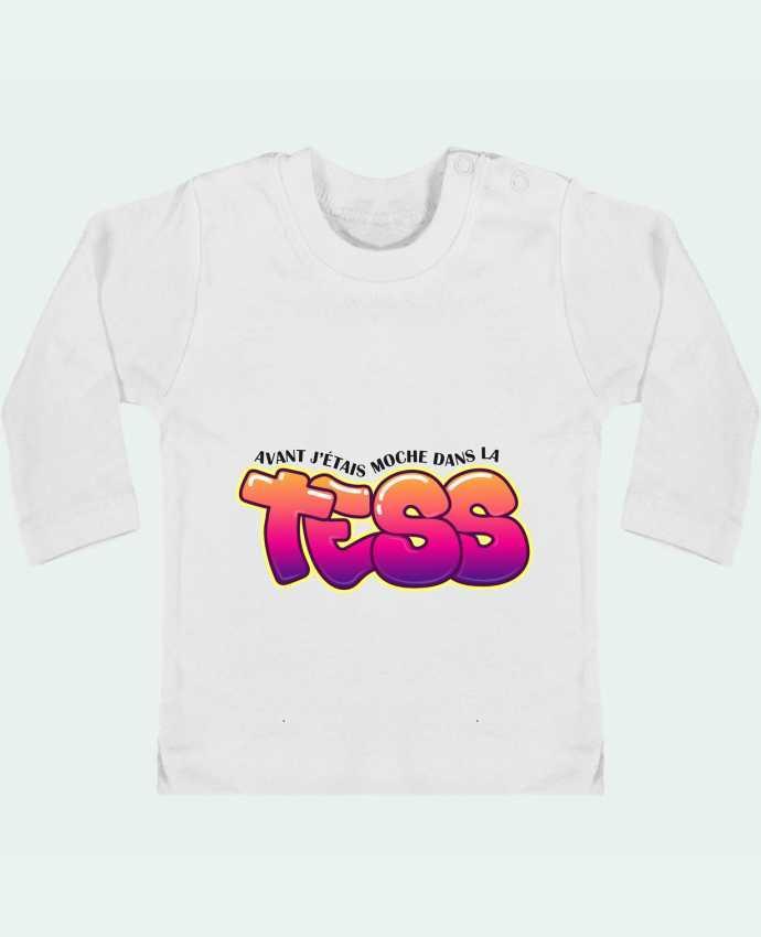Camiseta Bebé Manga Larga con Botones  PNL Moche dans la Tess manches longues du designer tunetoo