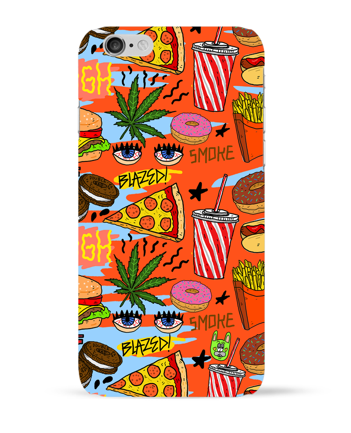 Carcasa 3D Iphone 6  Junk food pattern por Nick cocozza