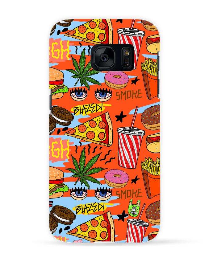 Carcasa 3D Samsung Galaxy S7 Junk food pattern por Nick cocozza