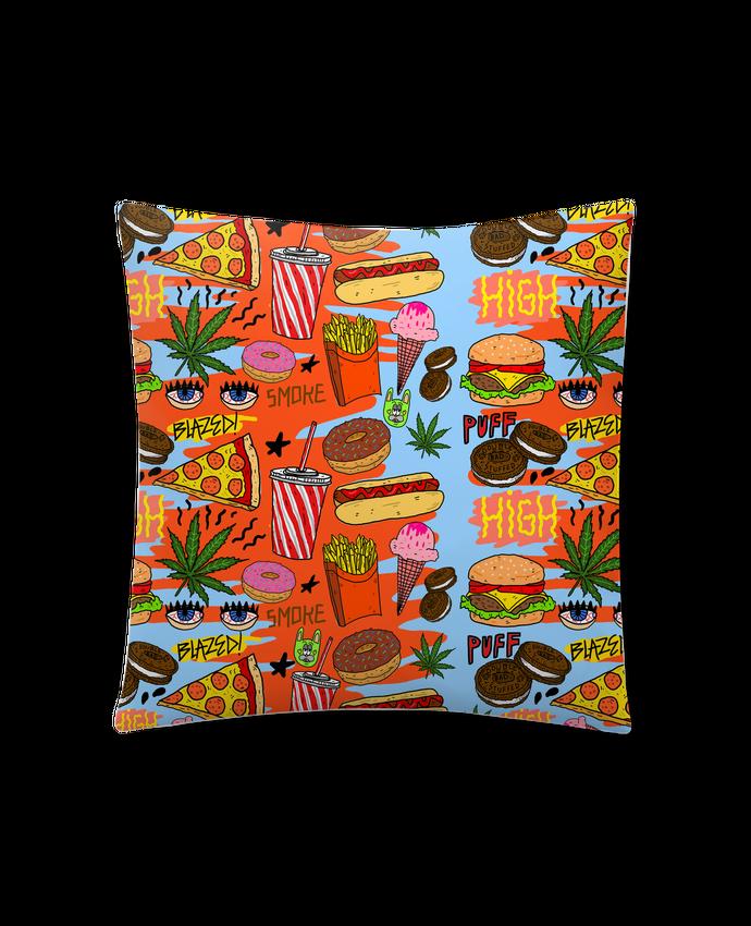 Cojín Sintético Suave 45 x 45 cm Junk food pattern por Nick cocozza