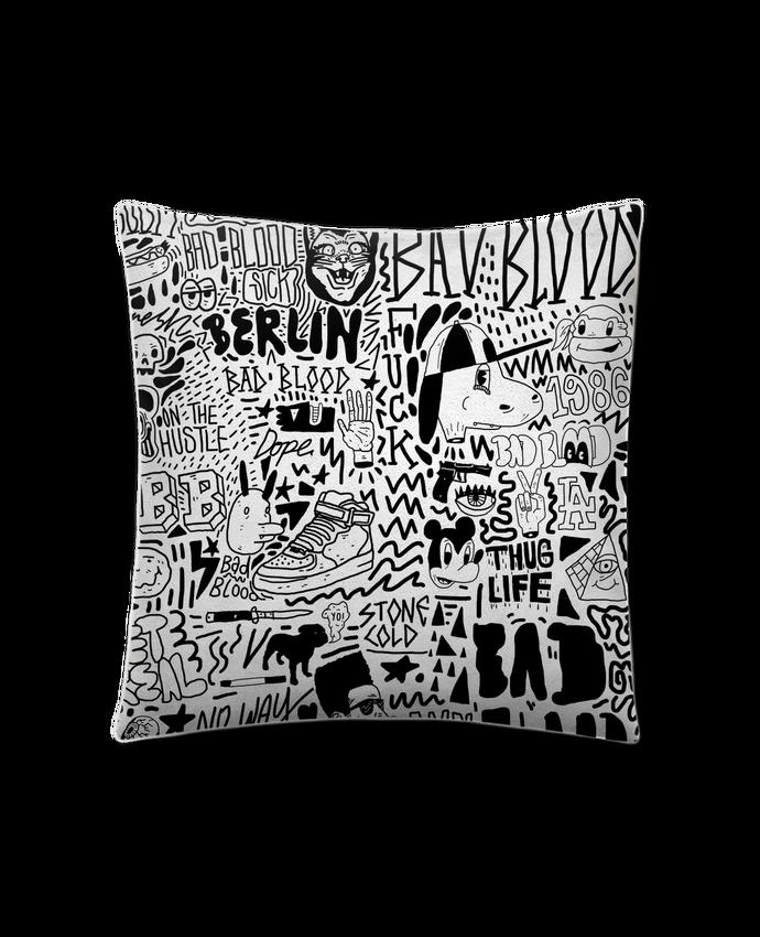 Cojín Piel de Melocotón 45 x 45 cm Black White Street art Pattern por Nick cocozza