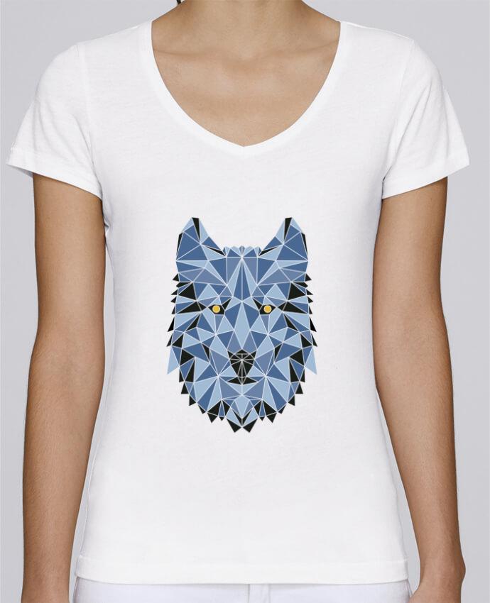 Camiseta Mujer Cuello en V Stella Chooses wolf - geometry 3 por /wait-design