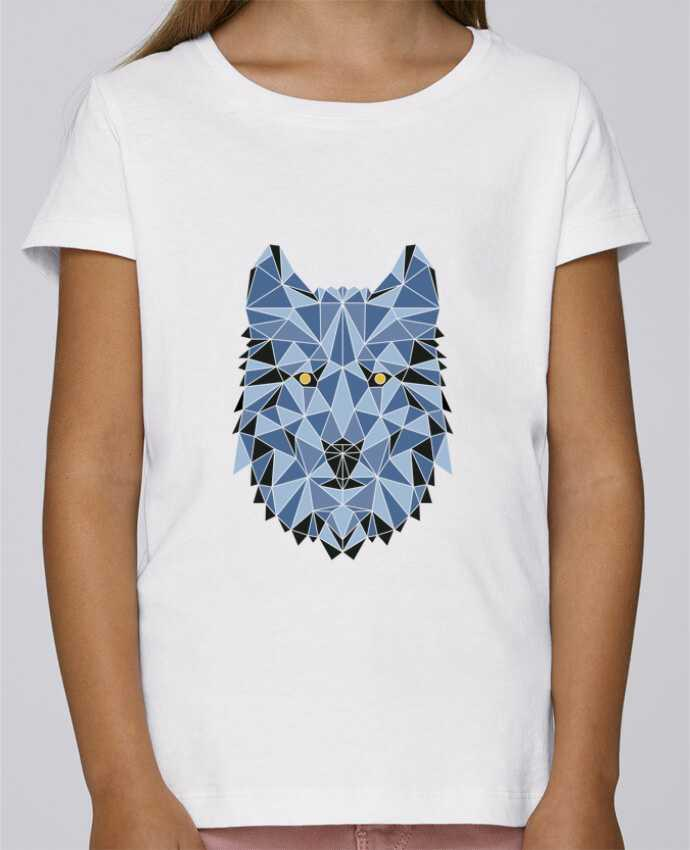 Camiseta Niña Stella Draws wolf - geometry 3 por /wait-design