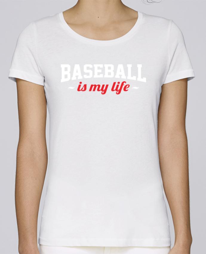 Camiseta Mujer Stellla Loves Baseball is my life por Original t-shirt