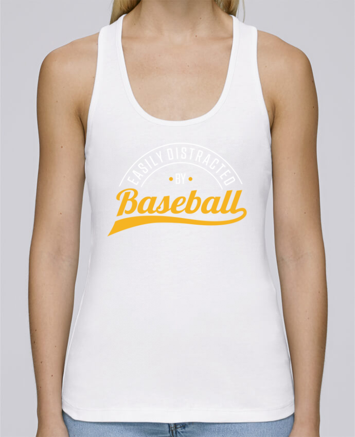 Camiseta de tirantes algodón orgánico mujer Stella Dreams Distracted by Baseball por Original t-shirt en coton Bio