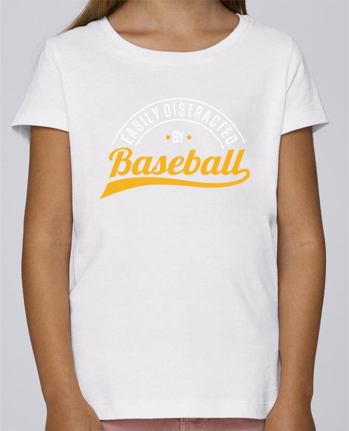 Camiseta Niña Stella Draws Distracted by Baseball por Original t-shirt