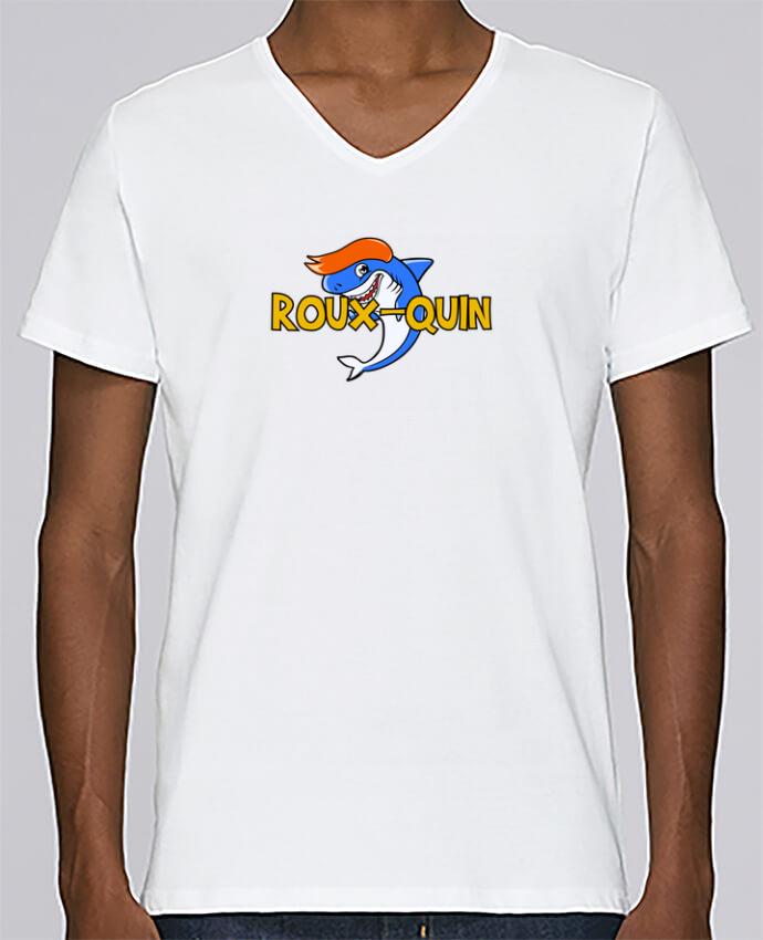 Camiseta Hombre Cuello en V Stanley Relaxes Roux-quin por tunetoo