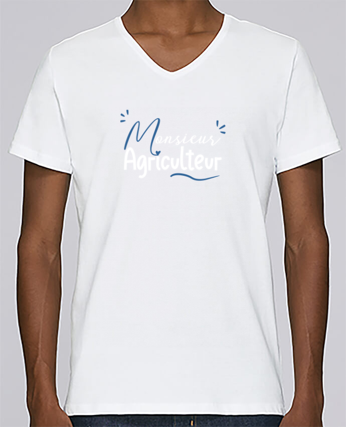 Camiseta Hombre Cuello en V Stanley Relaxes Monsieur Agriculteur por Original t-shirt