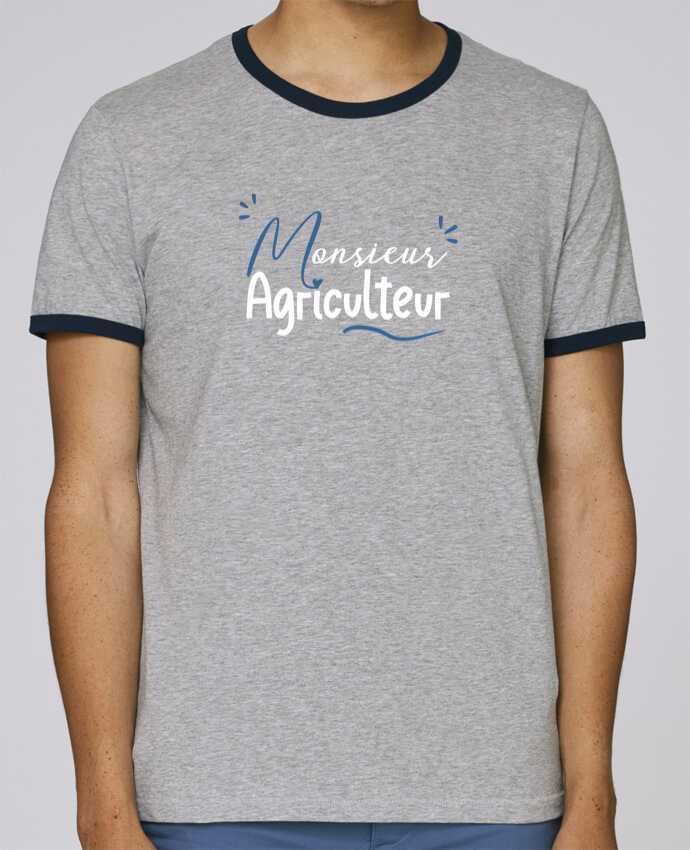 Camiseta Bordes Contrastados Hombre Stanley Holds Monsieur Agriculteur pour femme por Original t-shirt