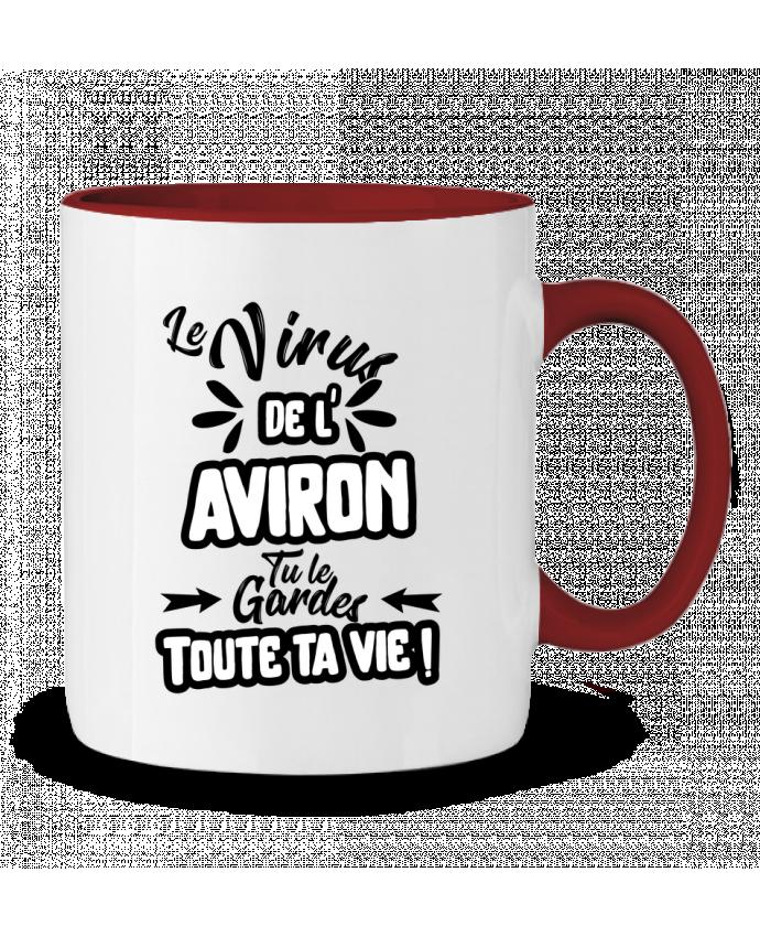 Taza Cerámica Bicolor Virus de l'Aviron Original t-shirt