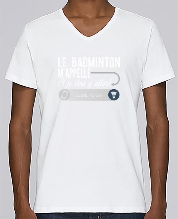 Camiseta Hombre Cuello en V Stanley Relaxes Badminton m'appelle por Original t-shirt
