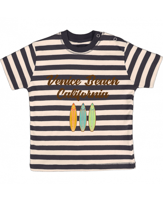 Camiseta Bebé a Rayas Venice Beach Surf por tunetoo