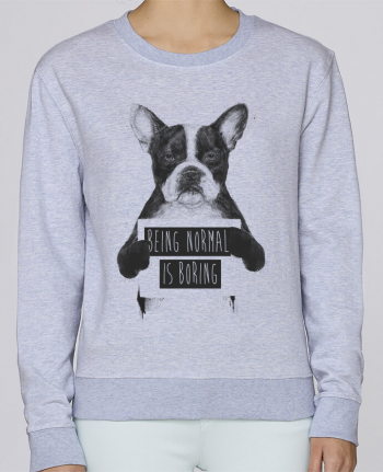 Sudadera Cuello Redondo Stella Hides Being normal is boring por Balàzs Solti
