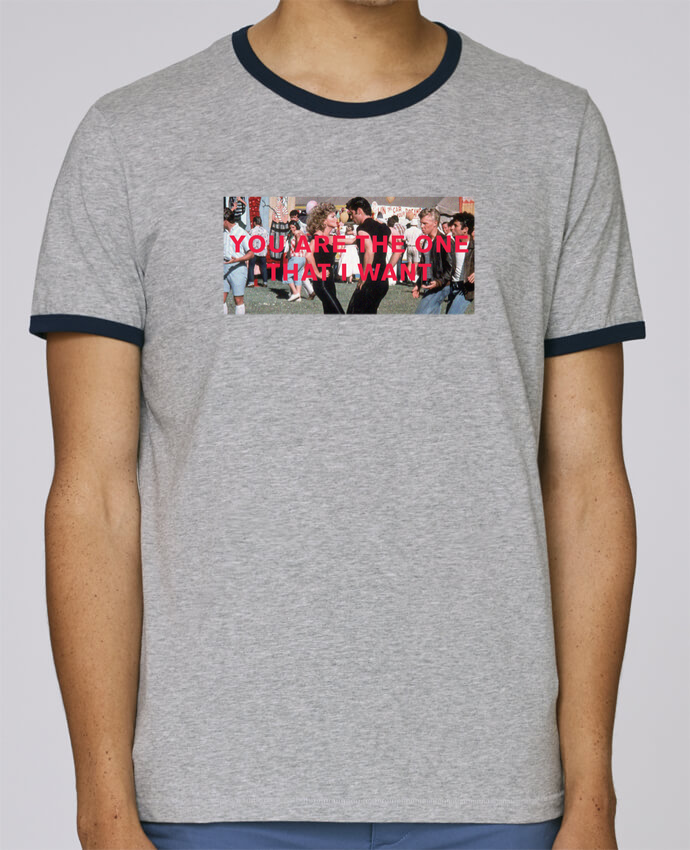 Camiseta Bordes Contrastados Hombre Stanley Holds Grease - You are the one pour femme por tunetoo