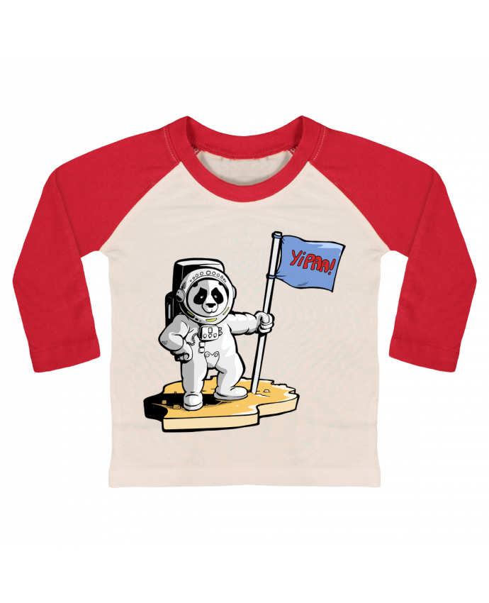 Camiseta Bebé Béisbol Manga Larga Panda-cosmonaute por Tomi Ax - tomiax.fr