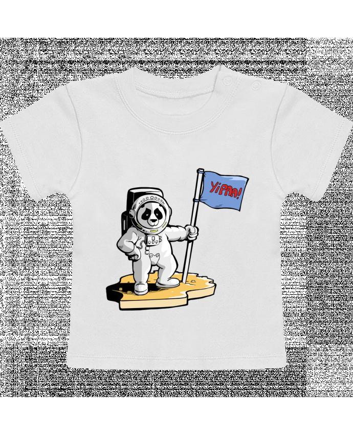 Camiseta Bebé Manga Corta Panda-cosmonaute manches courtes du designer Tomi Ax - tomiax.fr